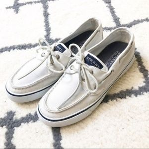 Sperry Top Sider white boat shoes
